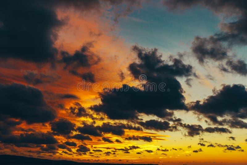 niebo kolorowy zmierzch Słońce tworzy koloru gradient obrazy royalty free