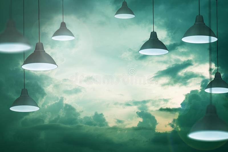 Niebo lampy royalty ilustracja