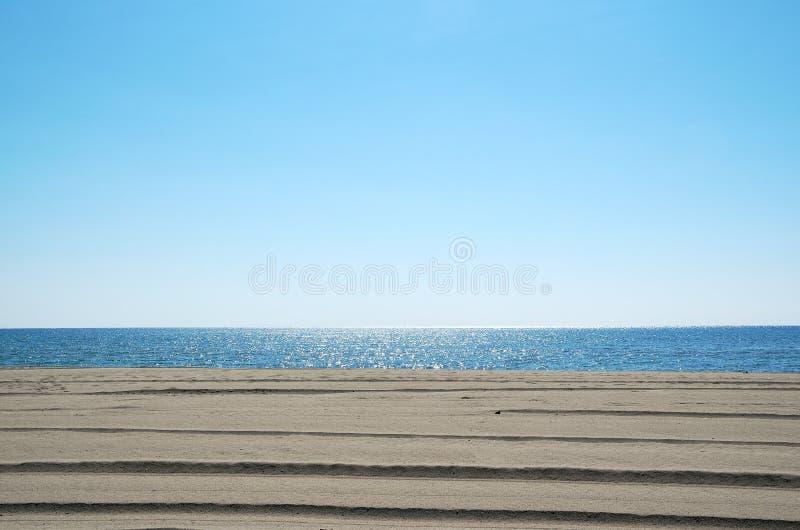 Niebo, morze i piasek, obrazy royalty free