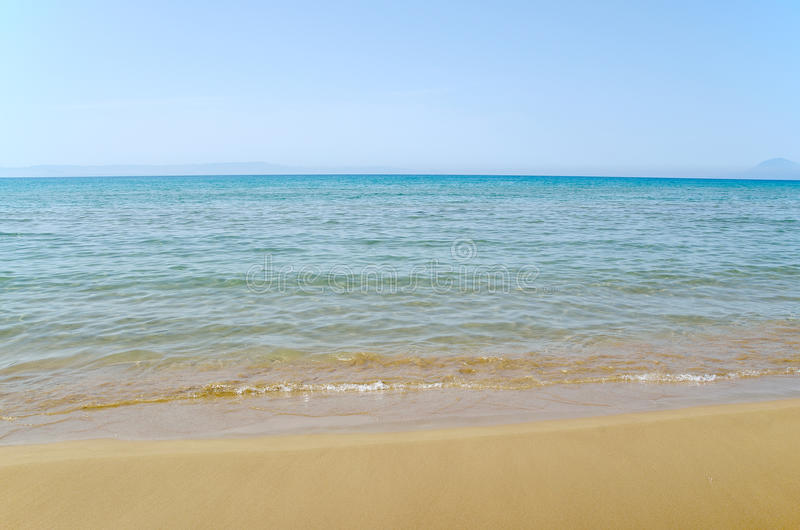Niebo, morze i piasek, obraz stock