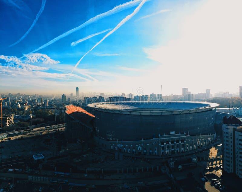 Niebo nad miastem zdjęcie royalty free