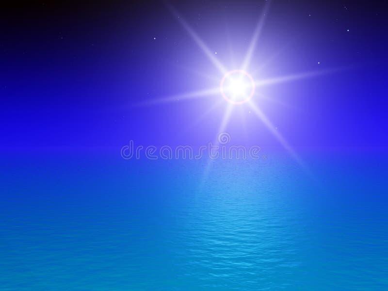 niebo nocy morza ilustracji