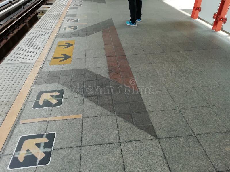 Niebo pociągu wyjście i wejście zdjęcie royalty free