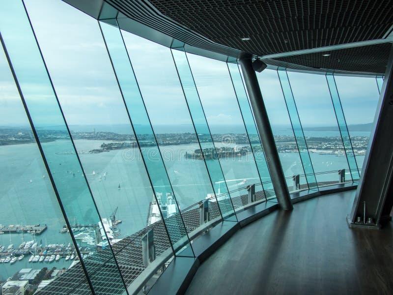 Niebo pokład, nieba wierza, Auckland, Nowa Zelandia zdjęcie stock