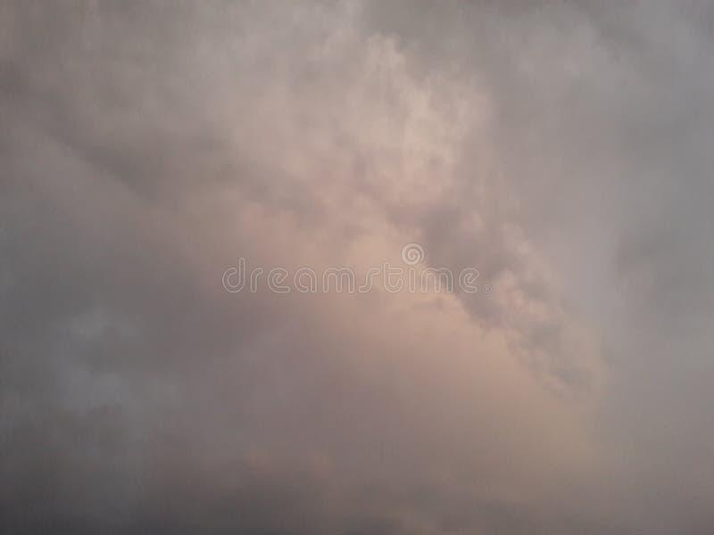 Niebo przed padać zdjęcie stock