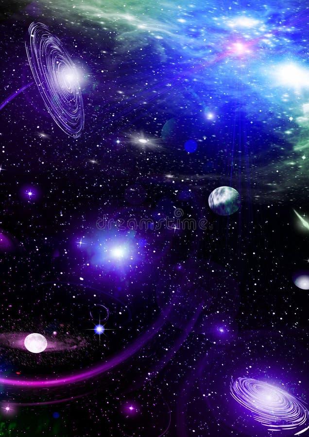 niebo przestrzeń royalty ilustracja