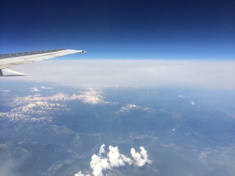 Niebo ptaka chmury moder obraz royalty free