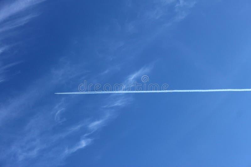 Niebo samolot fotografia royalty free