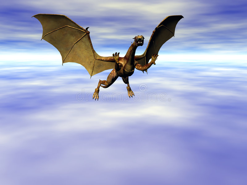 niebo smoka ilustracja wektor