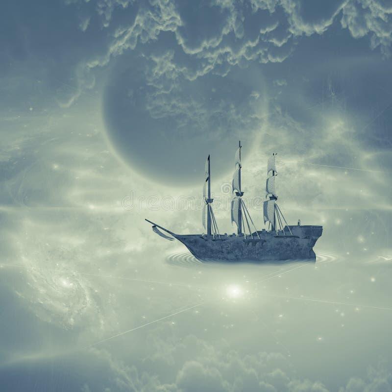 Niebo statek royalty ilustracja