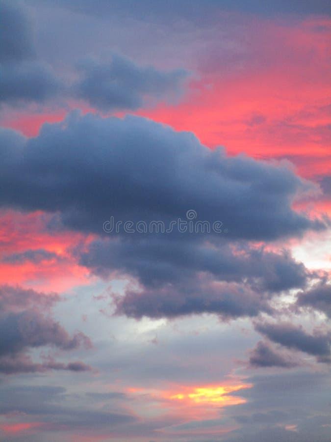 Niebo w kolorowym kostiumu fotografia stock