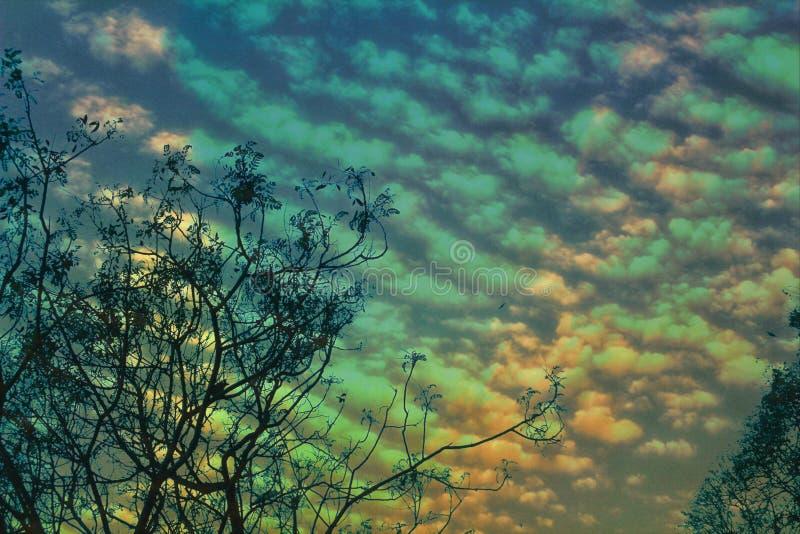 Niebo w zachodzie słońca zdjęcia stock