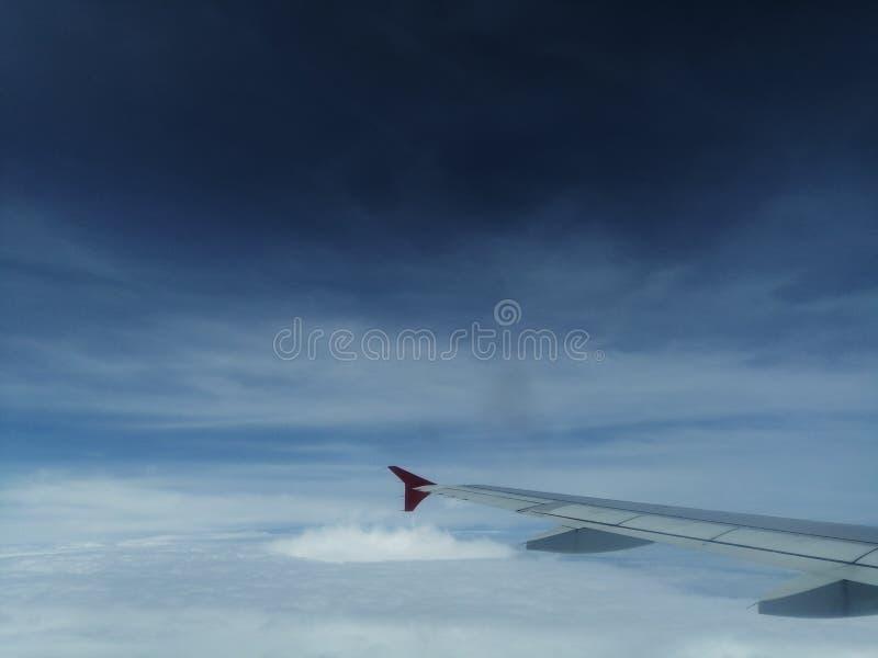Niebo widok Od Samolotowego okno obrazy royalty free
