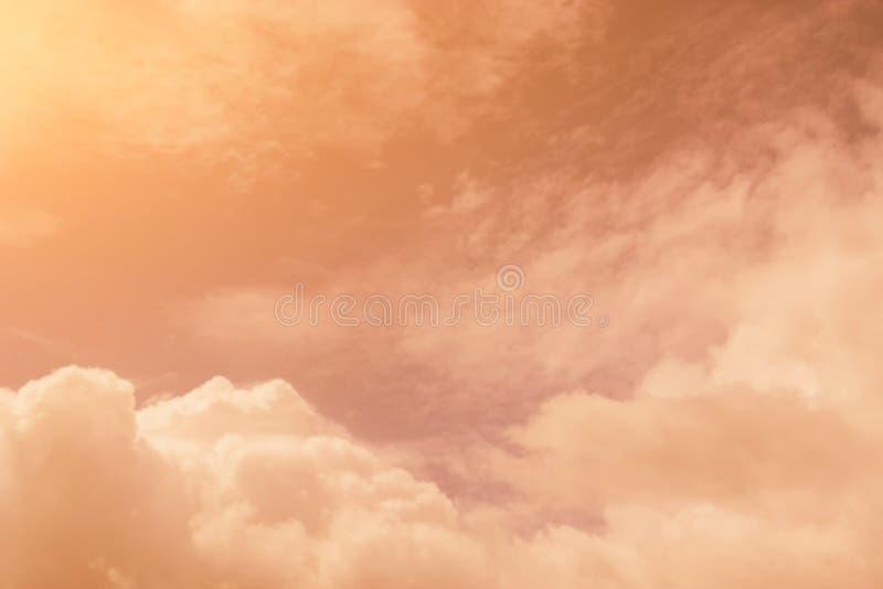 Niebo wieczór światła słonecznego gorąca strefa dla tła w projekcie i a ilustracja wektor