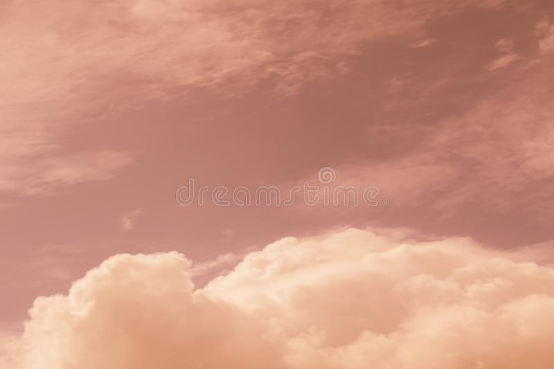Niebo wieczór światła słonecznego gorąca strefa dla tła w projekcie i a obraz royalty free