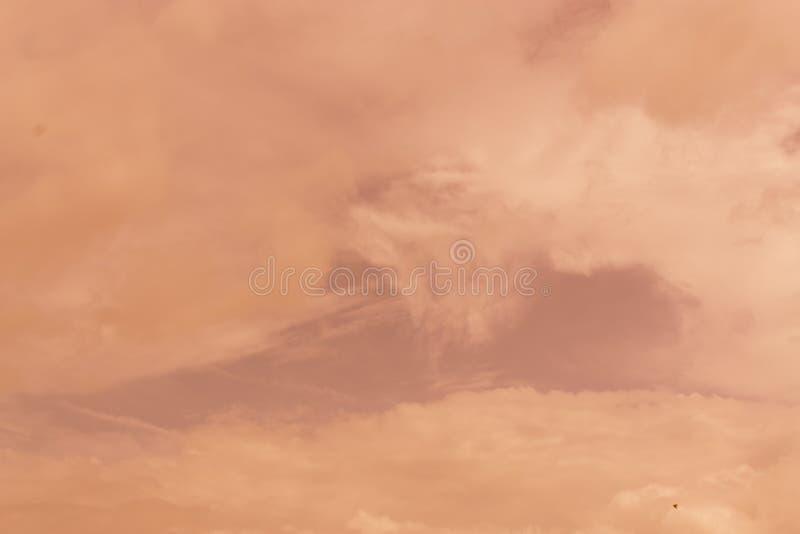 Niebo wieczór światła słonecznego gorąca strefa dla tła w projekcie i a obraz stock