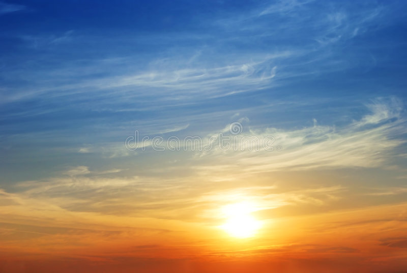 niebo wschód słońca obraz royalty free
