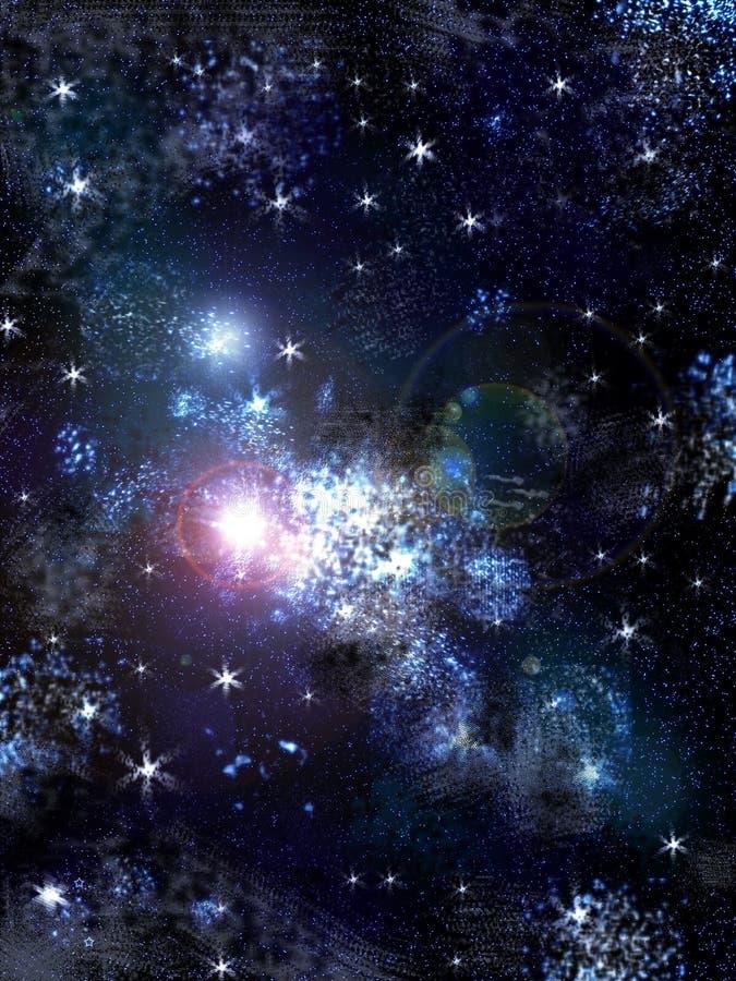 Niebo z gwiazdami ilustracji