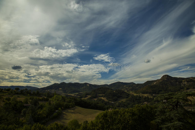 niebo zachmurzone krajobrazu obraz stock