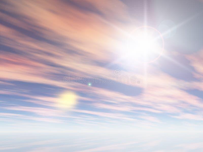 niebo zima ilustracja wektor