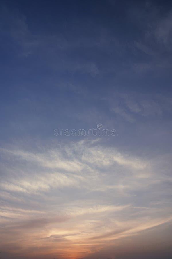 niebo zmierzch zdjęcia stock