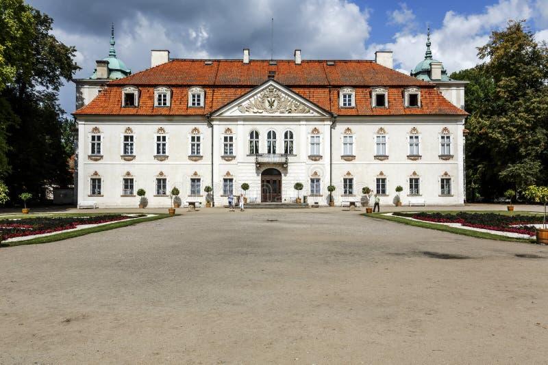 Nieborow slott, Polen fotografering för bildbyråer