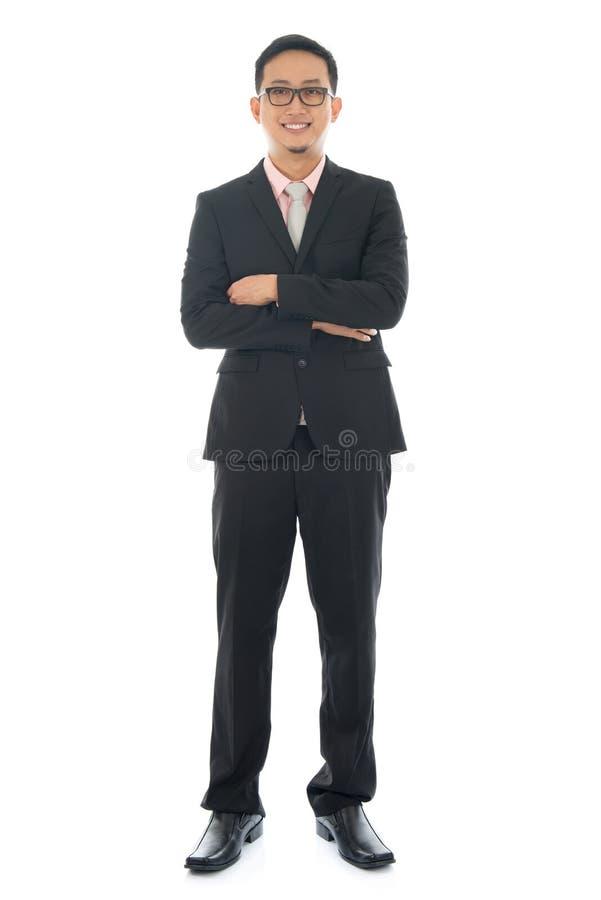 Niecka Azjatycki biznesowy mężczyzna fotografia royalty free