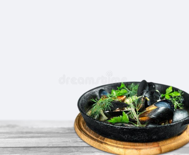 Niecka wyśmienici mussels fotografia stock