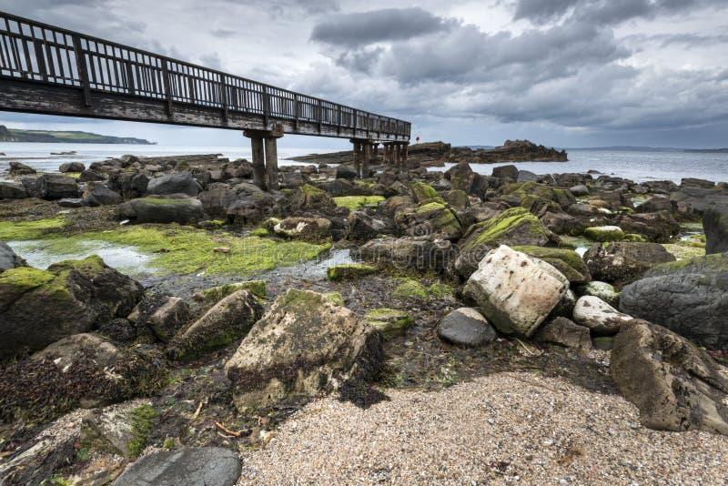 Niecki skała, Ballycastle, Antrim wybrzeże zdjęcie royalty free