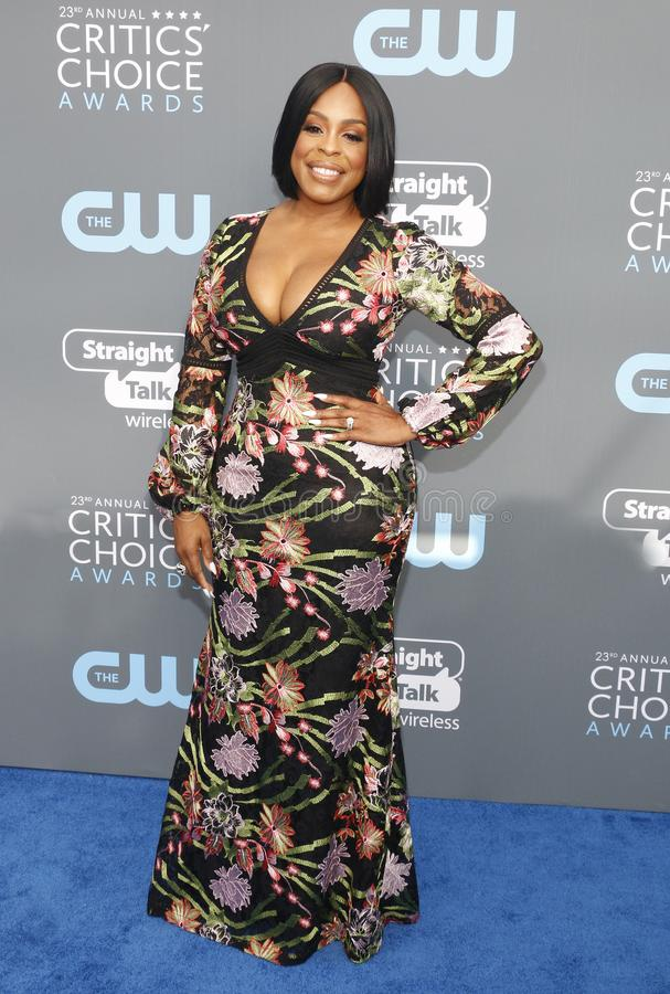 Niecy Nash. At the 23rd Annual Critics` Choice Awards held at the Barker Hangar in Santa Monica, USA on January 11, 2018 royalty free stock images