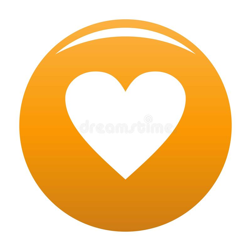 Niedźwięczna kierowa ikony pomarańcze ilustracja wektor