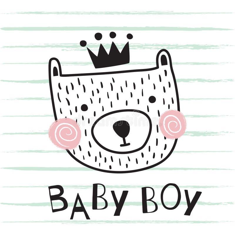Niedźwiadkowa chłopiec ilustracji
