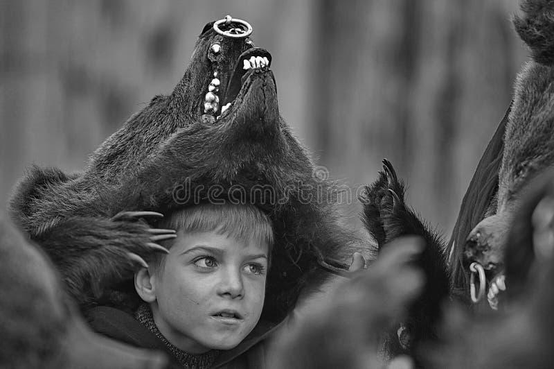 Niedźwiadkowa chłopiec obraz stock