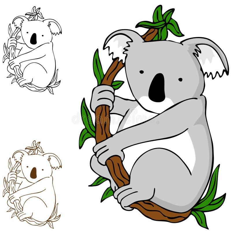 niedźwiadkowa koala royalty ilustracja