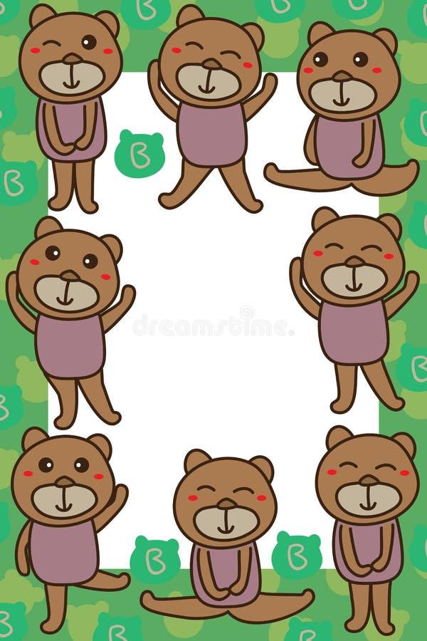 Niedźwiadkowa niedźwiadkowa rama tylko royalty ilustracja