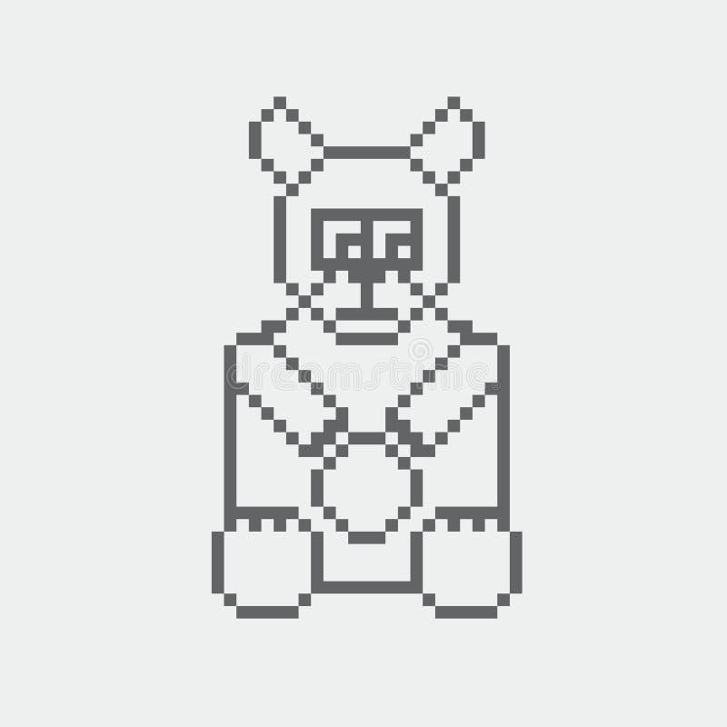 Niedźwiadkowa piksel ikona ilustracja wektor