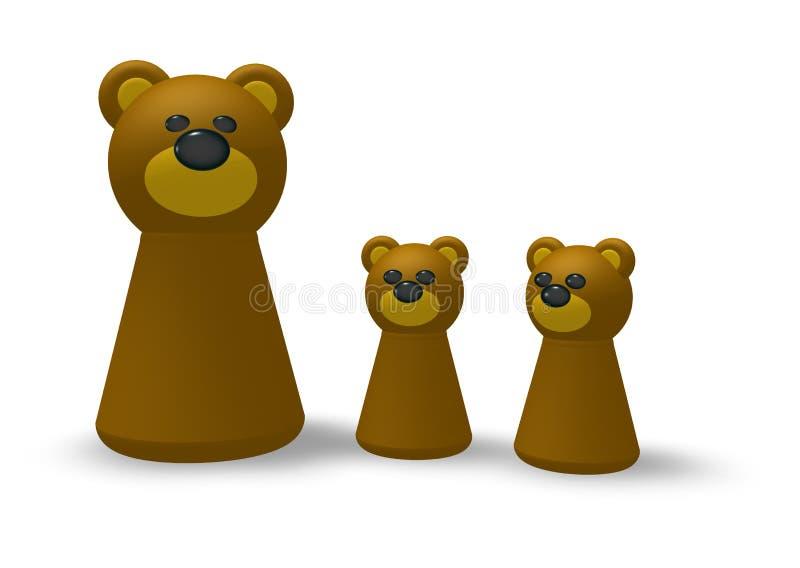 Niedźwiadkowa rodzina ilustracji