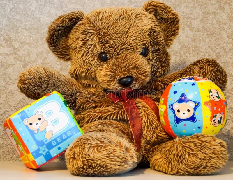 Niedźwiadkowa zabawka obraz royalty free