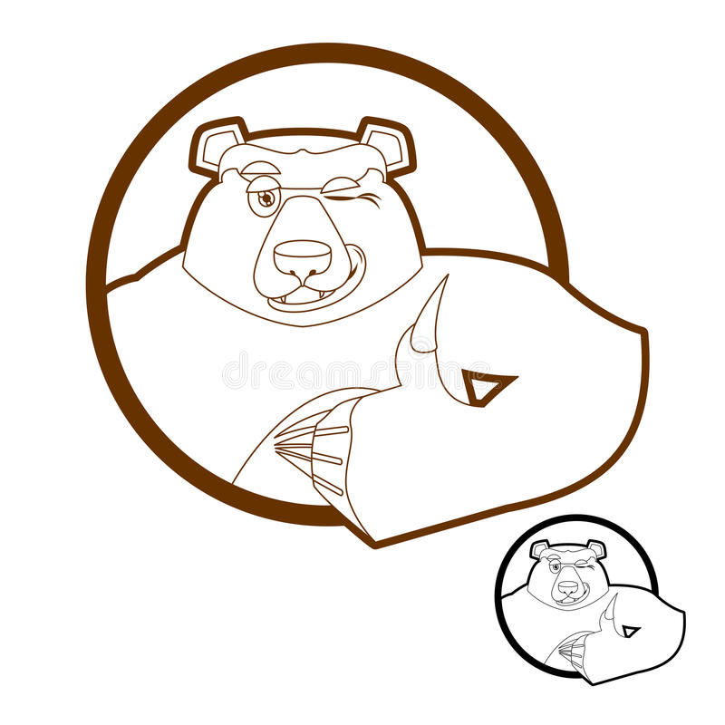 Niedźwiadkowe aprobaty i mrugnięcia wszystko well grizzly Podpisuje wszystko prawych H ilustracji