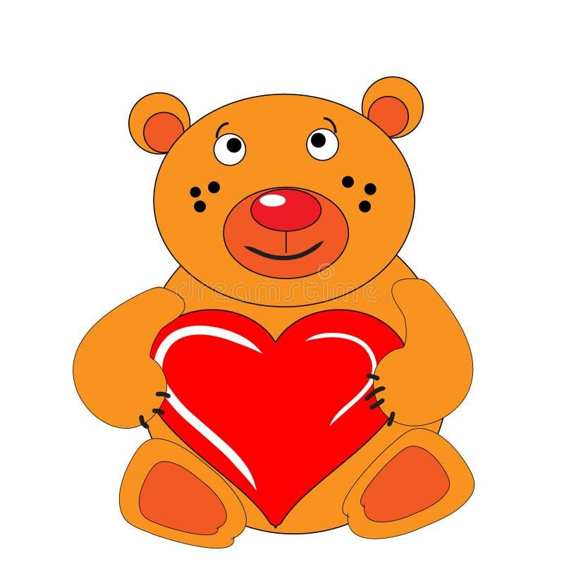 niedźwiadkowego lisiątka ręki serca utrzymania ilustracji