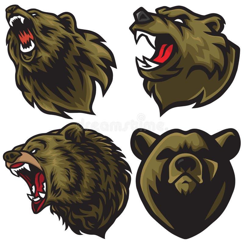 Niedźwiadkowego logo premii Ustalona Wektorowa kolekcja ilustracja wektor