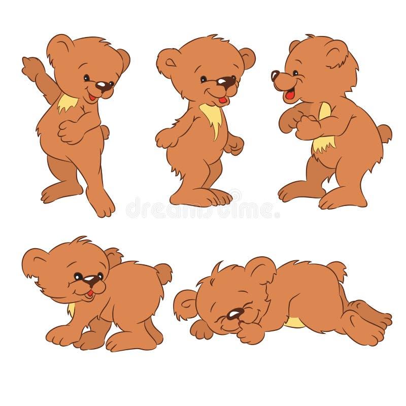 niedźwiadkowi lisiątka ilustracji