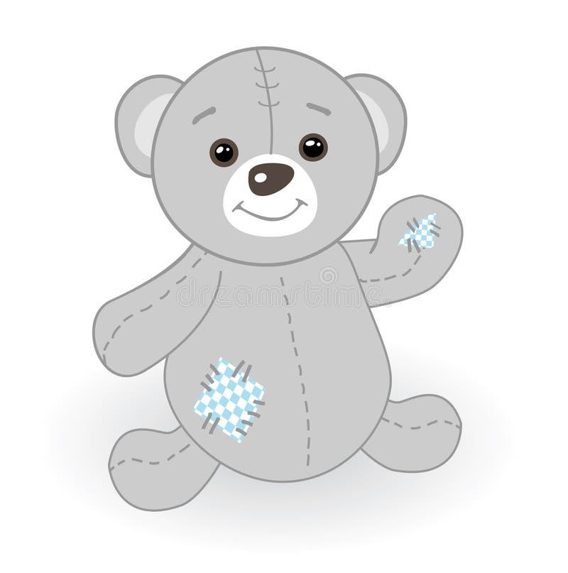 niedźwiadkowy śliczny miś pluszowy royalty ilustracja