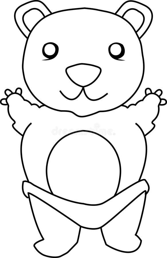 niedźwiadkowy śliczny miś pluszowy ilustracja wektor