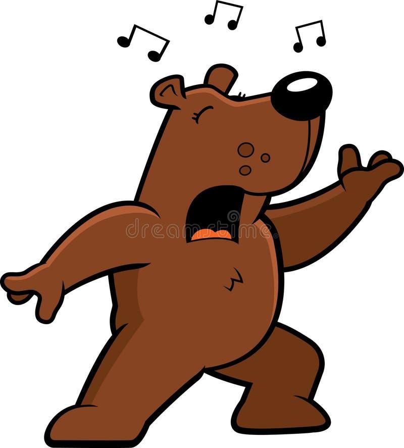 niedźwiadkowy śpiew royalty ilustracja