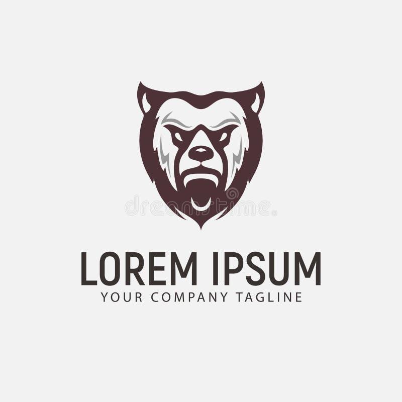 Niedźwiadkowy bestia logo projekta pojęcia szablon royalty ilustracja