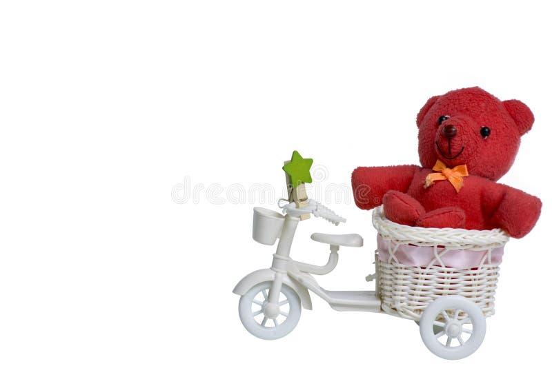 niedźwiadkowy czerwony miś pluszowy zdjęcia stock