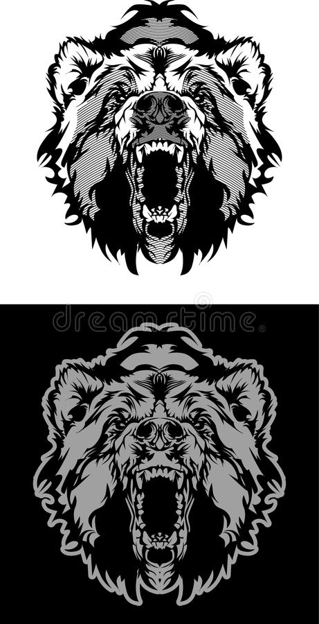 niedźwiadkowy loga maskotki wektor ilustracja wektor