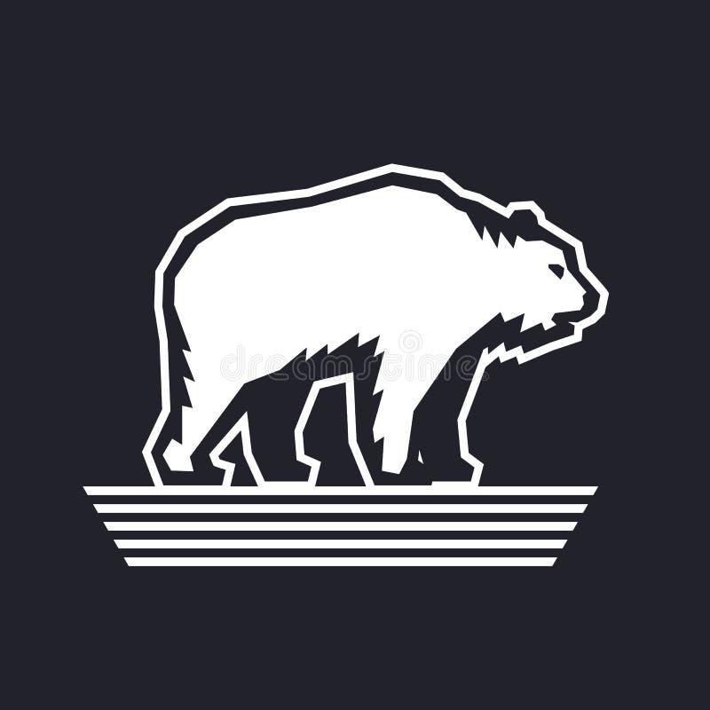 Niedźwiadkowy loga projekta szablon, wektorowa ilustracja ilustracja wektor
