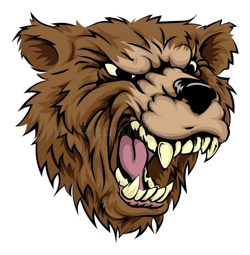 Niedźwiadkowy maskotka charakter ilustracji